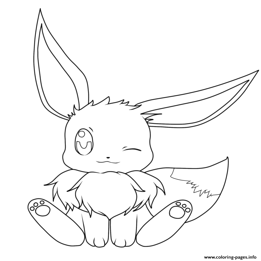 Pokemon Color Pages Ba Eevee Pokemon Coloring Pages Printable