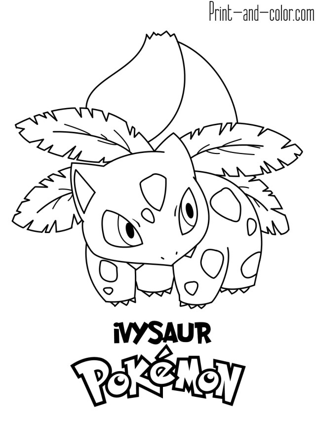 Pokemon Color Pages Coloring Page Pokemon 003 Coloring Page Pokemon Pages Print And