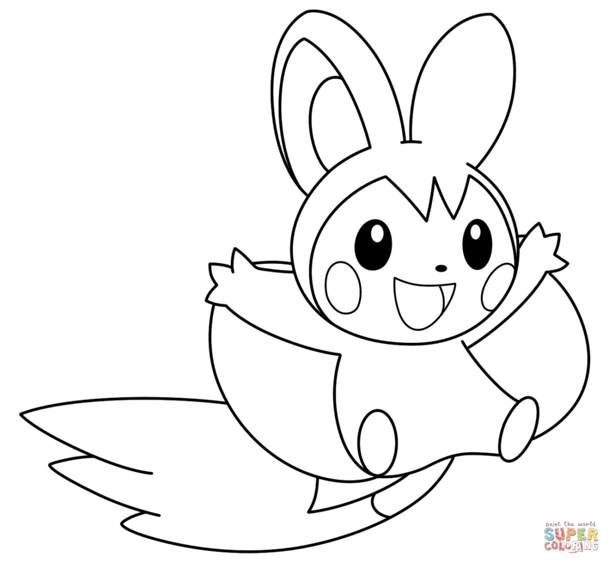 Pokemon Coloring Pages Free And Printable | 1108x1200