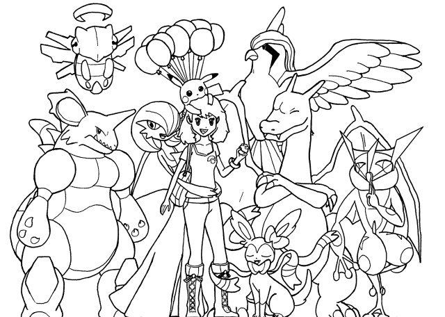 Pokemon Color Pages Pokemon For Kids All Pokemon Coloring Pages Kids Coloring Pages