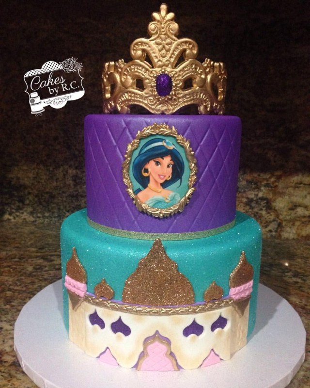 Princess Jasmine Birthday Cake Jasmine Inspired Cake Made For Princess Briannas 5th Birthday