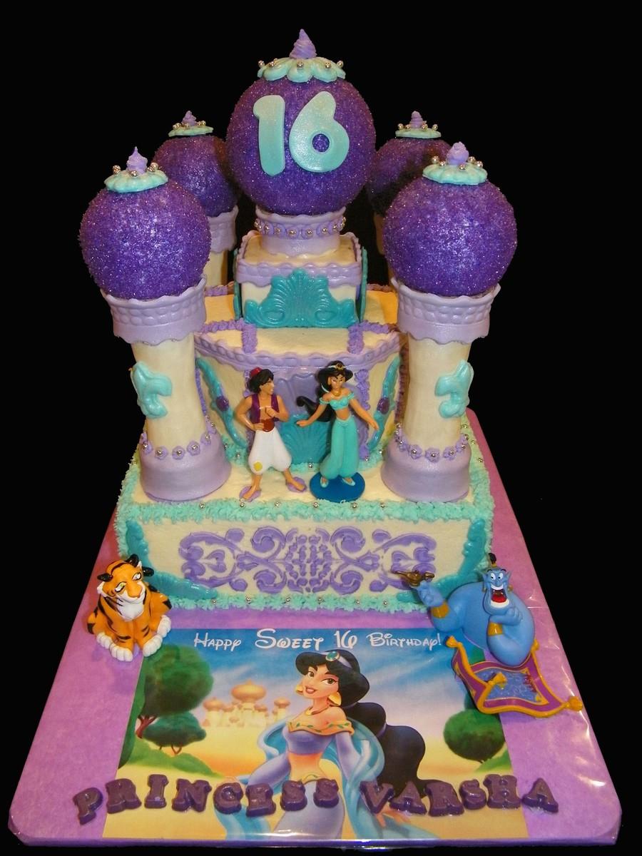 Strange Princess Jasmine Birthday Cake Princess Jasmine Aladdin Sweet 16 Personalised Birthday Cards Petedlily Jamesorg