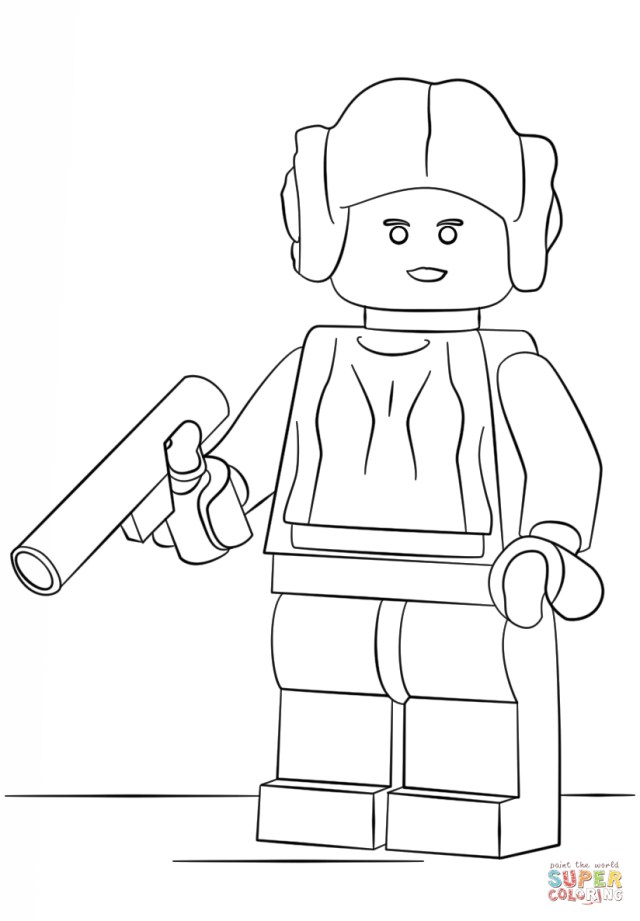 Princess Leia Coloring Pages Lego Princess Leia Coloring Page Free Printable Coloring Pages