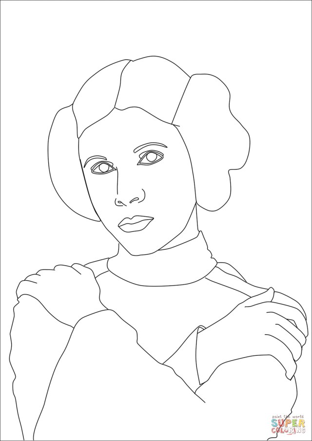 Princess Leia Coloring Pages Princess Leia Coloring Page Free Printable Coloring Pages Princess