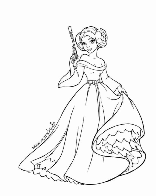 Princess Leia Coloring Pages Star Wars Princess Leia Coloring Pages Google Search With Brilliant