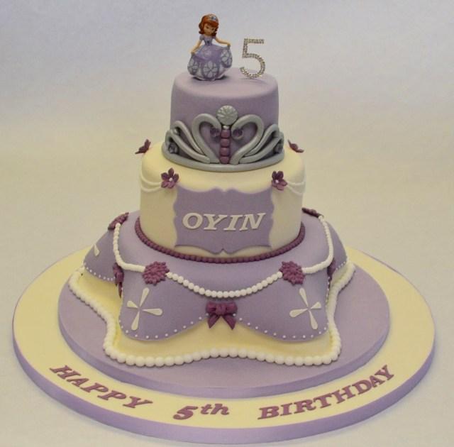 Princess Sofia Birthday Cake 3 Tier Princess Sofia Cake Childrens Birthday Cakes Celebration