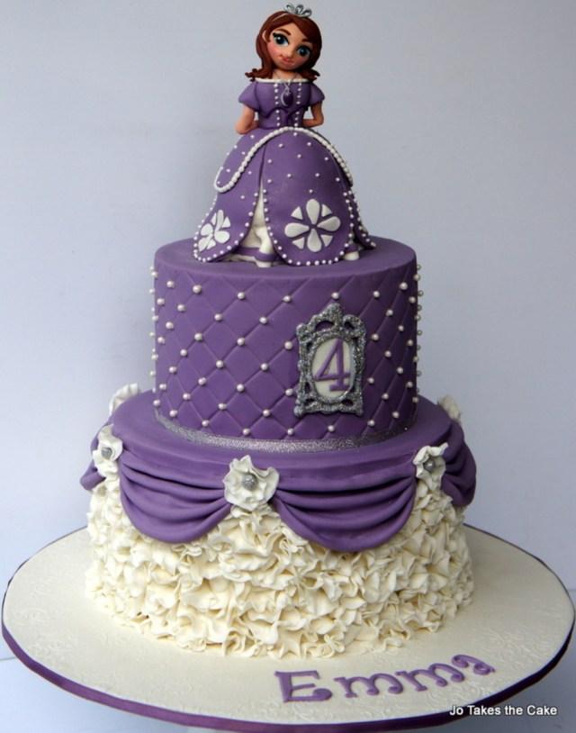 Princess Sofia Birthday Cake Princess Sofia Themed Birthday Cake Cakecentral