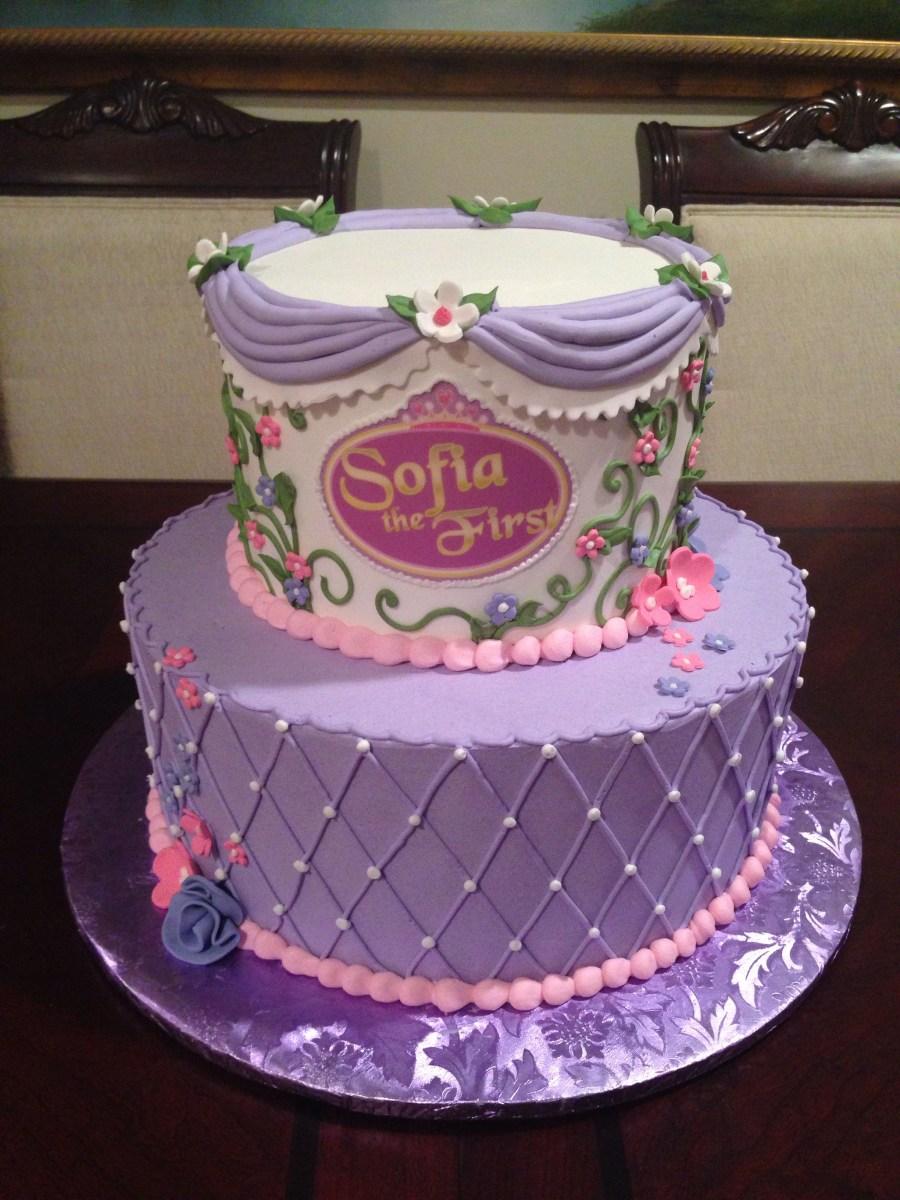 Peachy Princess Sofia Birthday Cake Sofia The First Birthday Cake 1St Funny Birthday Cards Online Inifodamsfinfo