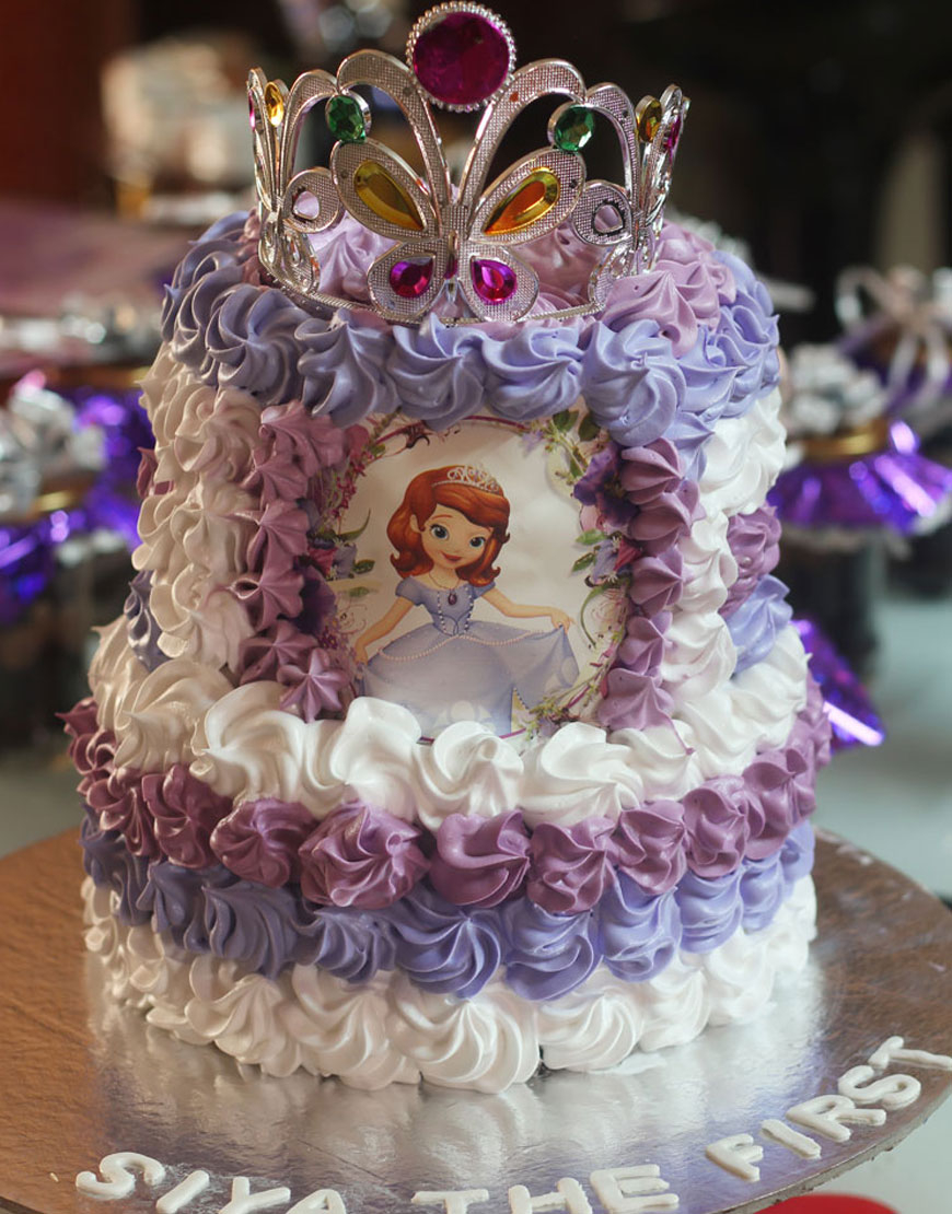 Admirable Princess Sofia Birthday Cake Sofia The First Birthday Cake For Birthday Cards Printable Benkemecafe Filternl