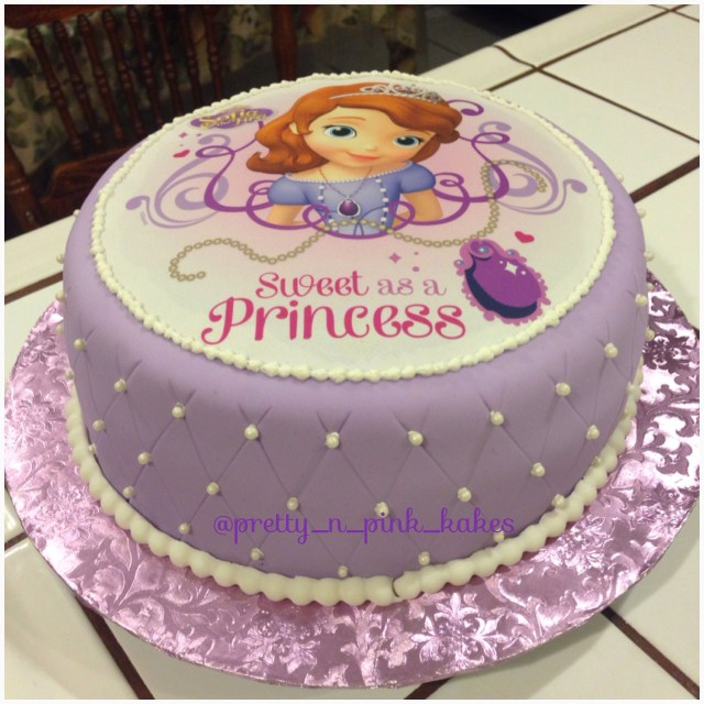 Princess Sofia Birthday Cake The First Kids Pinterest