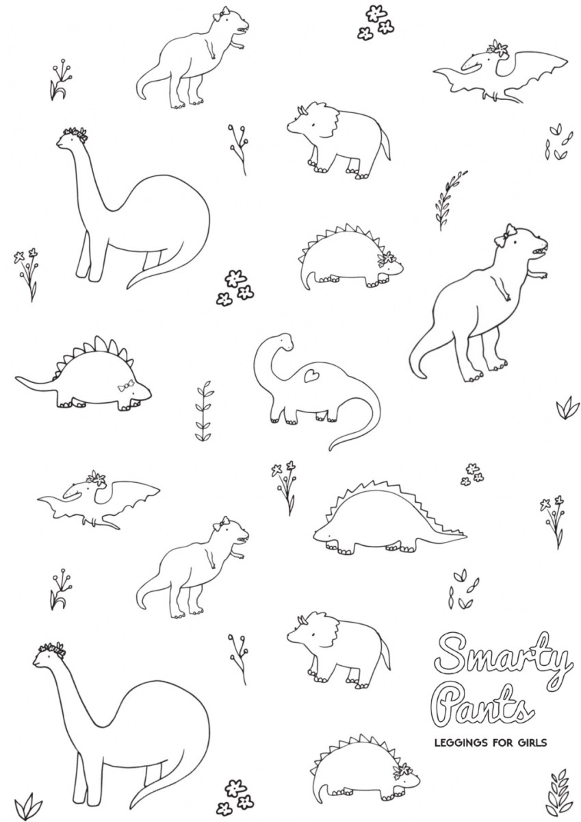 Printable Dinosaur Coloring Pages Coloring Page Coloring Page Dinosaur Printable Smarty Pants