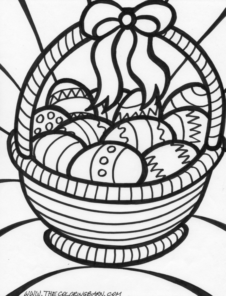 Printable Easter Coloring Pages Easter Basket Coloring Page Coloring Page Book For Kids