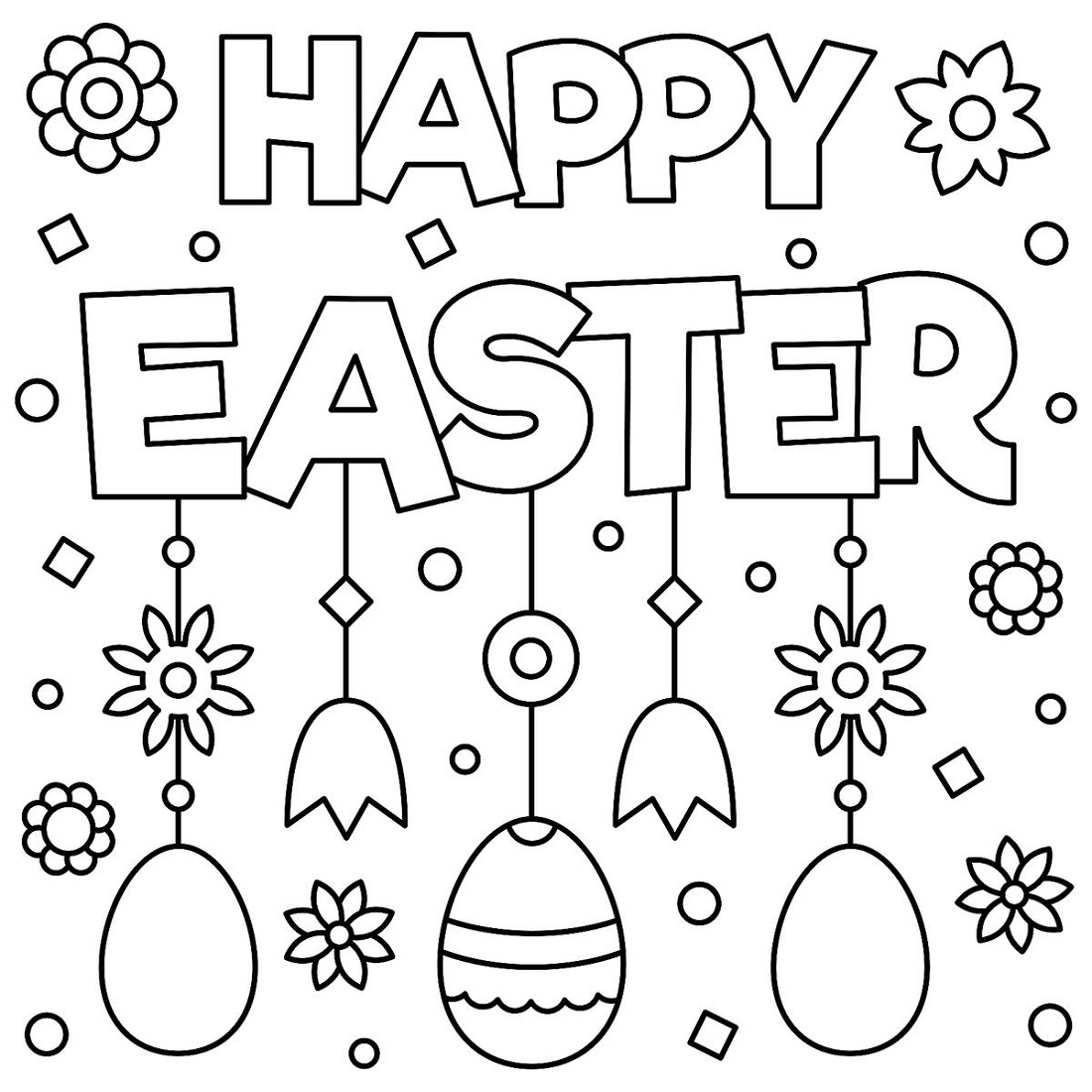 Printable Easter Coloring Pages Printable Easter Coloring Pages K5 Worksheets