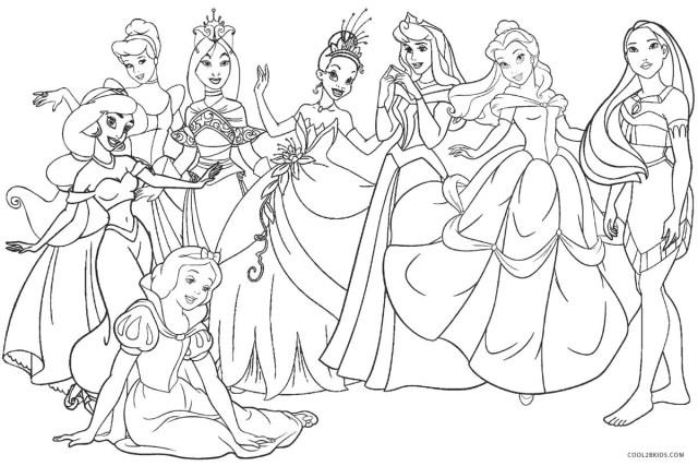 Printable Princess Coloring Pages Disney Princess Color Pages Printable Coloring With Free Vietti