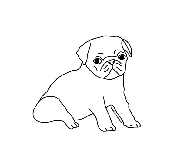 Pug Coloring Pages And Pug Coloring Pages For Alluring Pugs Page Coloring Pages For