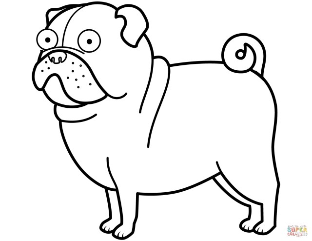 Pug Coloring Pages Pug Dog Coloring Page Free Printable Coloring Pages