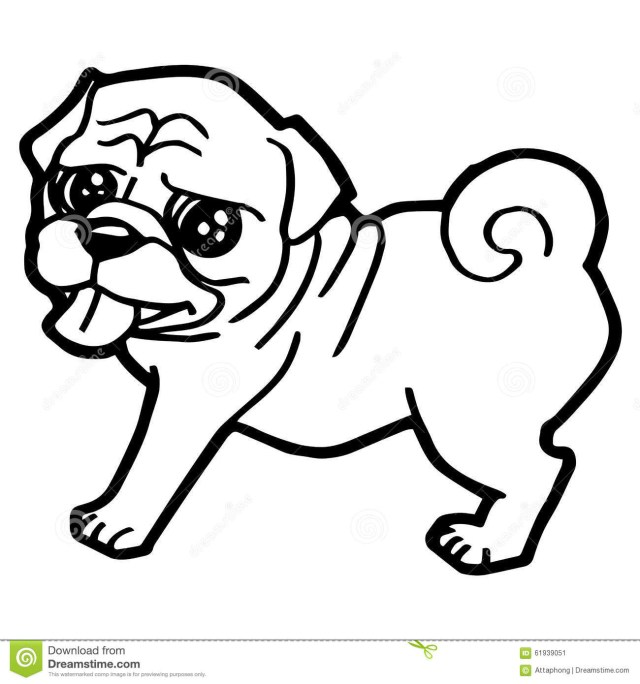Pug Coloring Pages Pugs Coloring Pages Tingameday