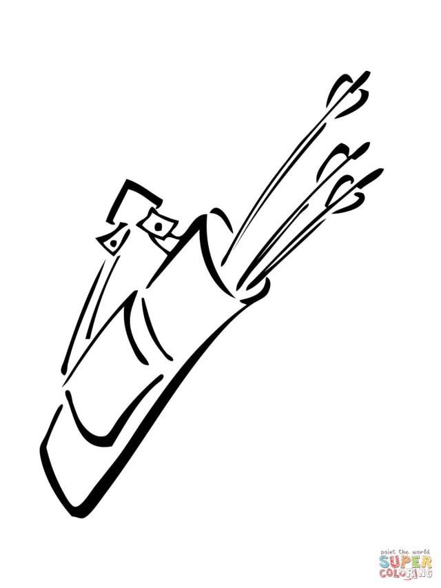 Quiver Coloring Pages Quiver With Arrows Coloring Page Free Printable Coloring Pages