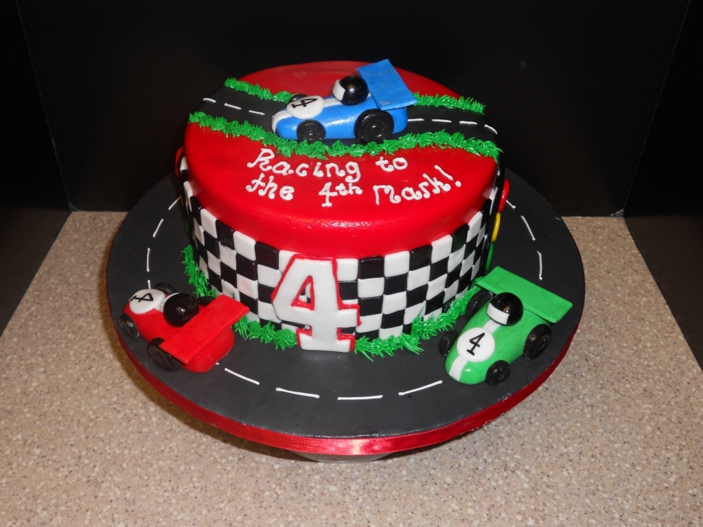 Incredible Race Car Birthday Cake Race Car Birthday Cakes Pictures Pertaining Funny Birthday Cards Online Elaedamsfinfo