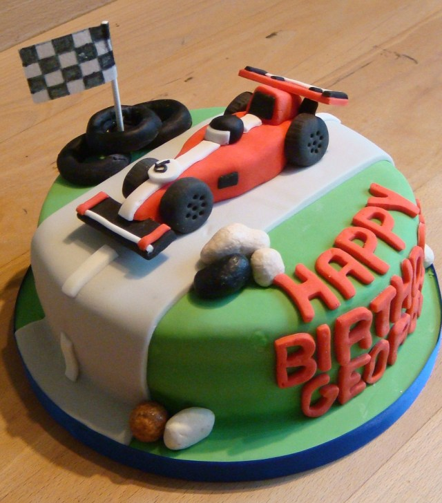 Race Car Birthday Cake Racing Car Birthday Cake Cook A Doo Kitchen Flickr