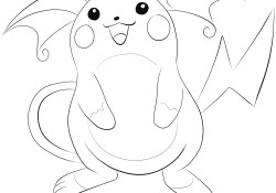 Raichu Coloring Page Raichu Coloring Page Free Printable Coloring Pages