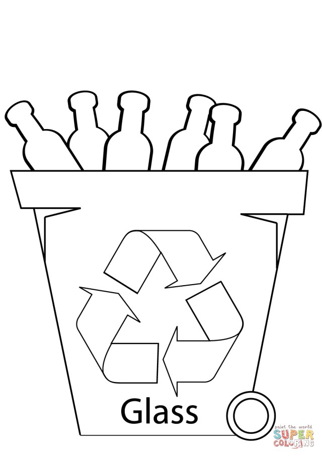 Recycling Coloring Pages Glass Recycling Bin Coloring Page Free Printable Coloring Pages