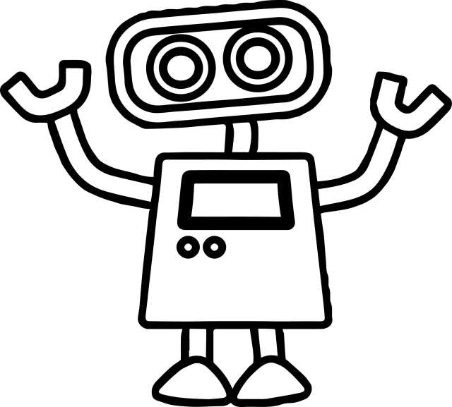 Robot Coloring Page Basic Cute Robot Coloring Page Wecoloringpage