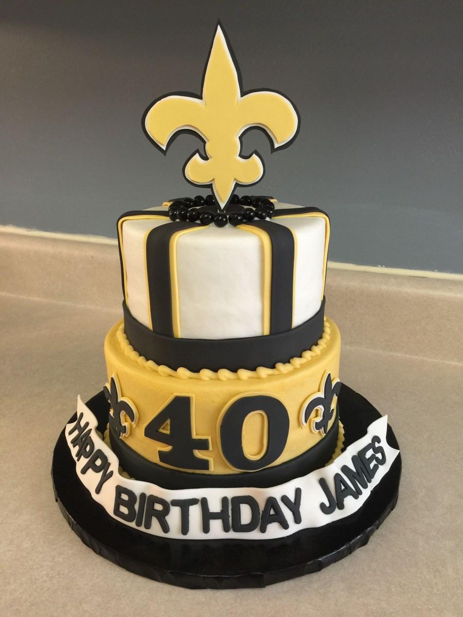 Phenomenal Saints Birthday Cake New Orleans Saints Cake Cakes Jennifer Personalised Birthday Cards Cominlily Jamesorg