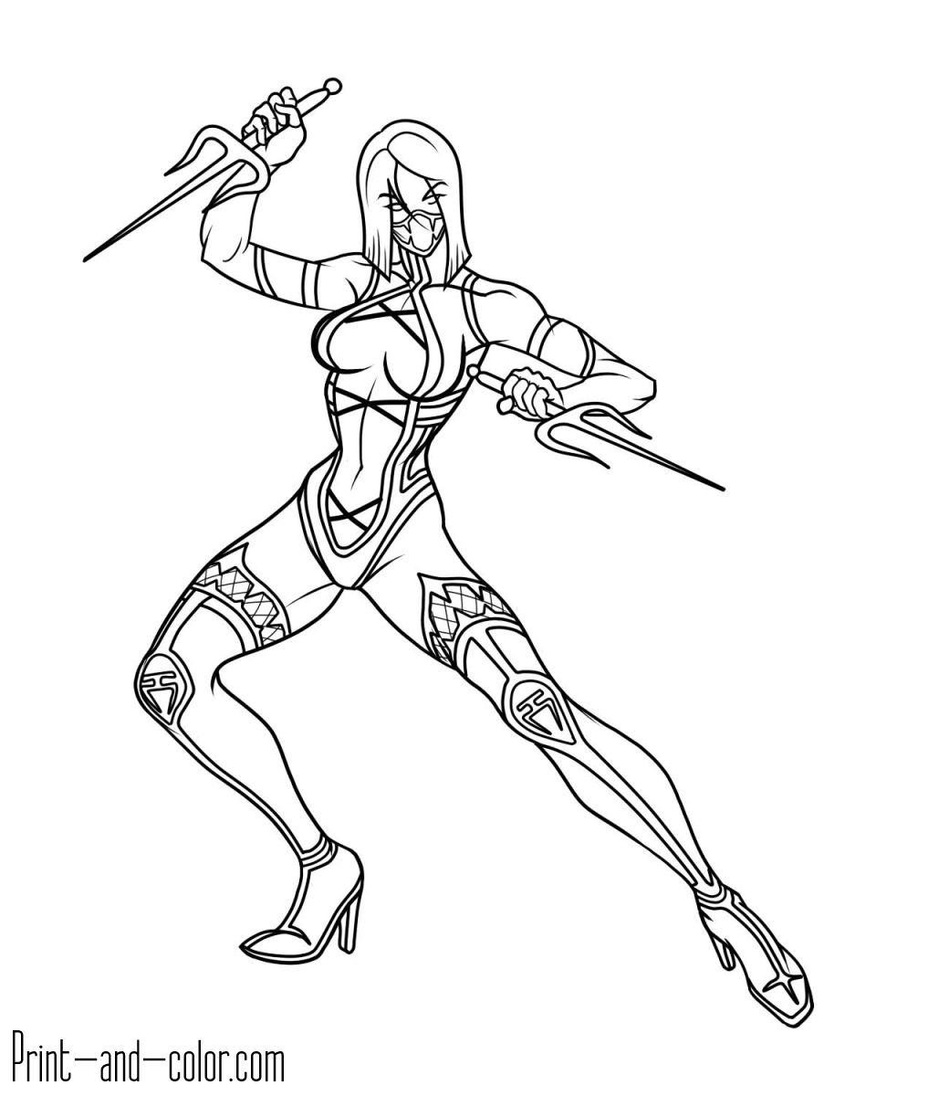 Scorpion Coloring Pages Mortal Kombat Coloring Pages Print ...