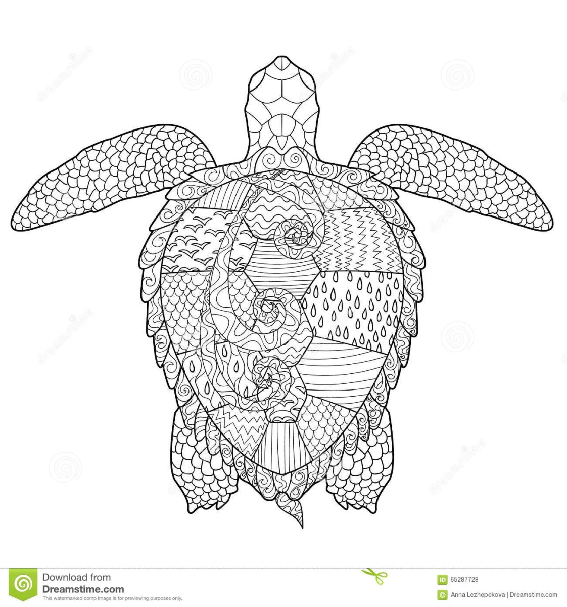 Turtles - Free printable Coloring pages for kids   1200x1122