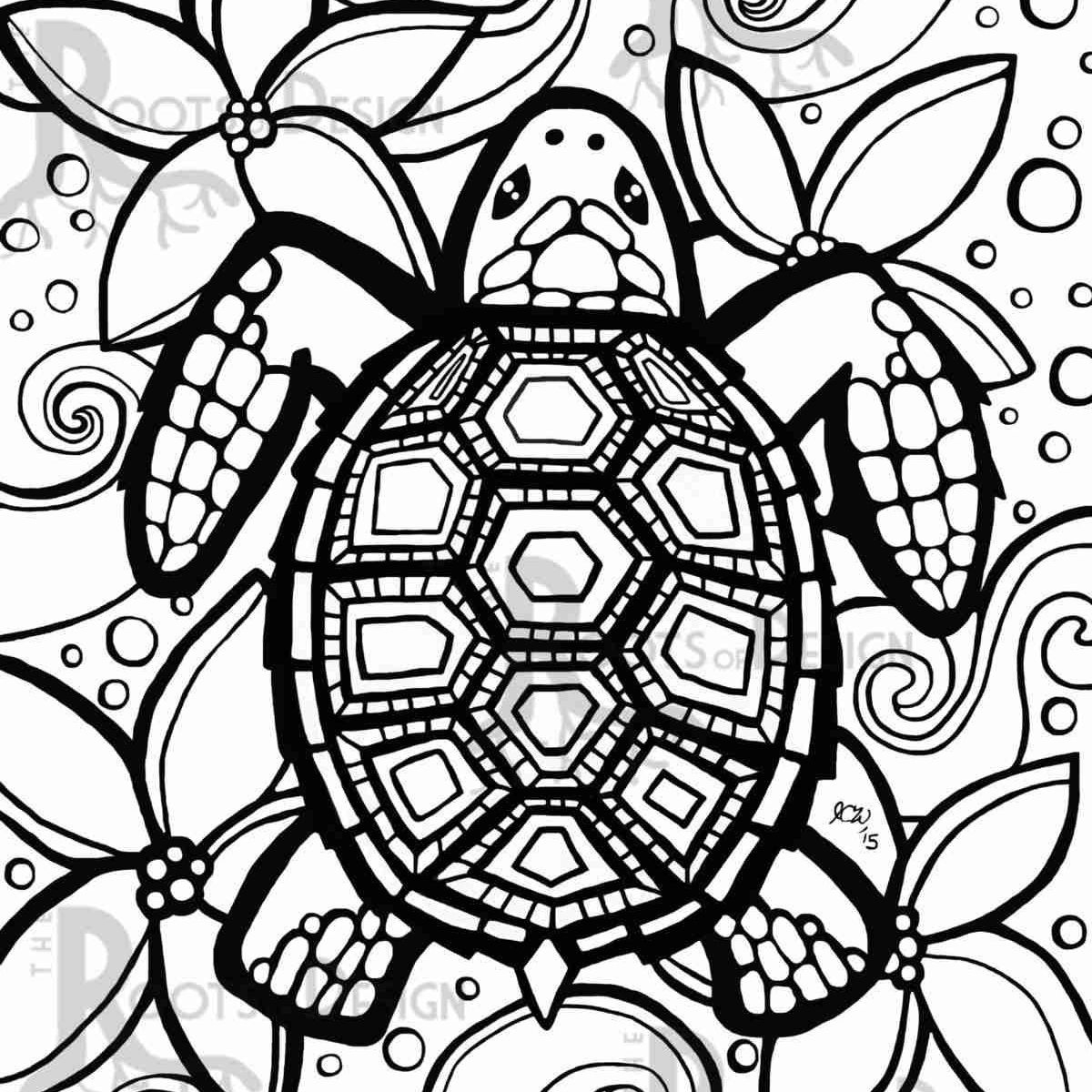 Sea Turtle Coloring Page Turtle Coloring Pages New Photos Lovely Sea For Drawingcoloring Page