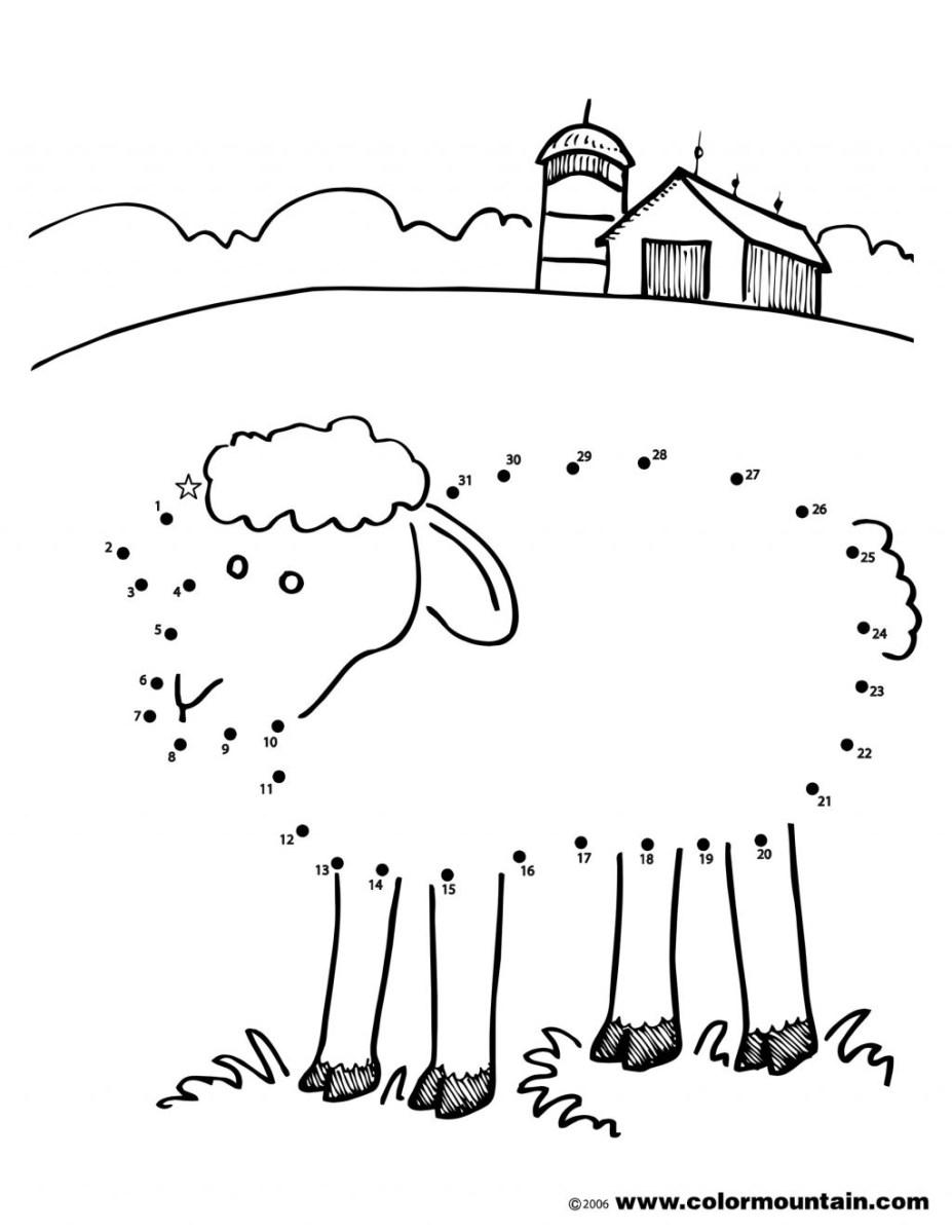 Sheep Coloring Page Coloring Page Dot Sheep Coloring Page Activity Create Printout 39