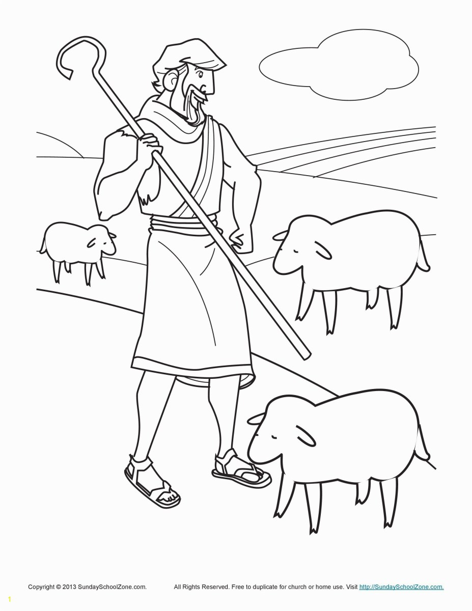 Sheep Coloring Page The Lost Sheep Coloring Page Zabelyesayan