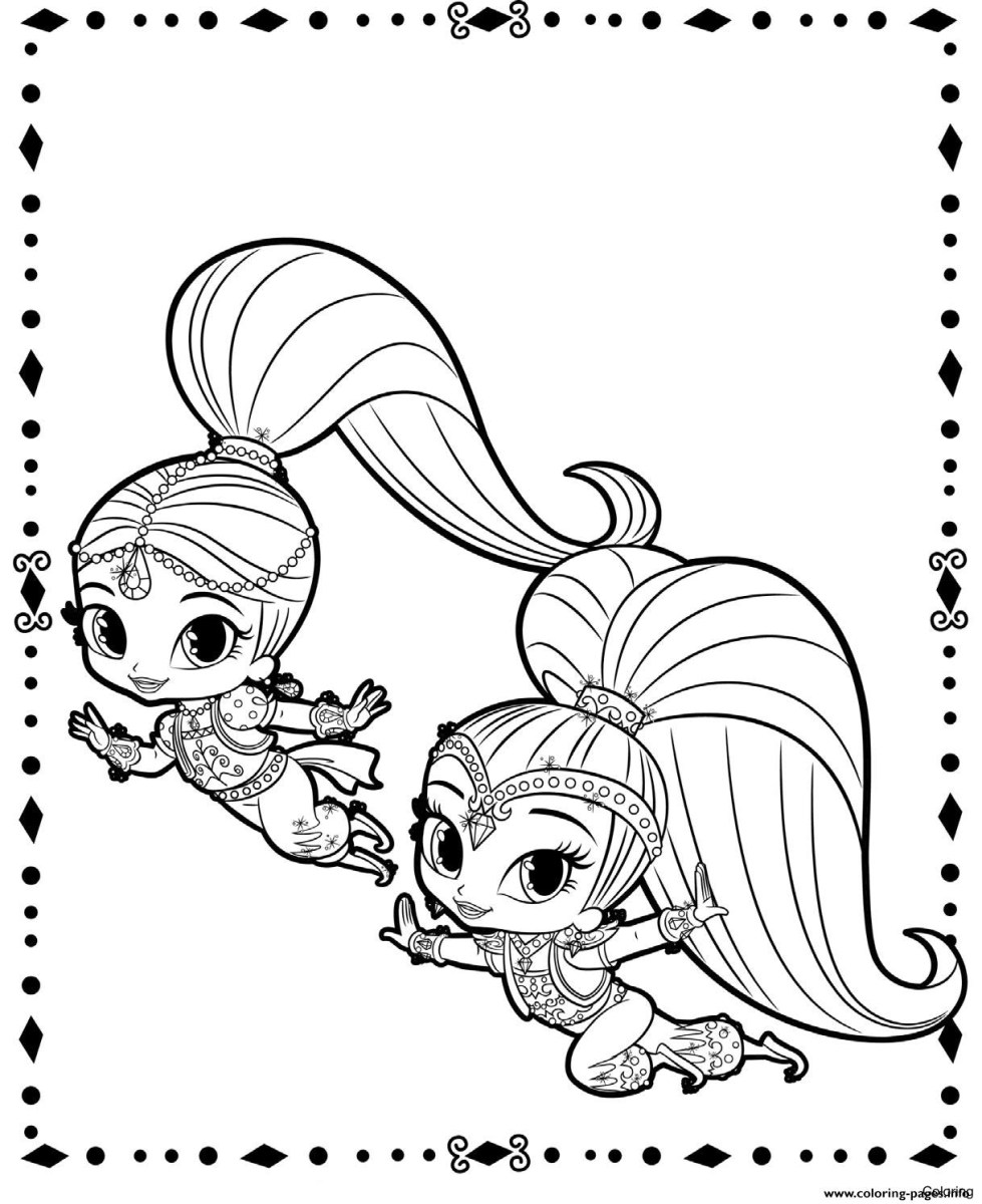 Shimmer And Shine Coloring Pages New Shimmer And Shine Coloring Page For Adults Pages 12f Kids Free