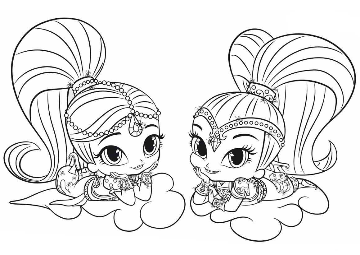 Shimmer And Shine Coloring Pages Shimmer And Shine Coloring Pages Best Coloring Pages For Kids