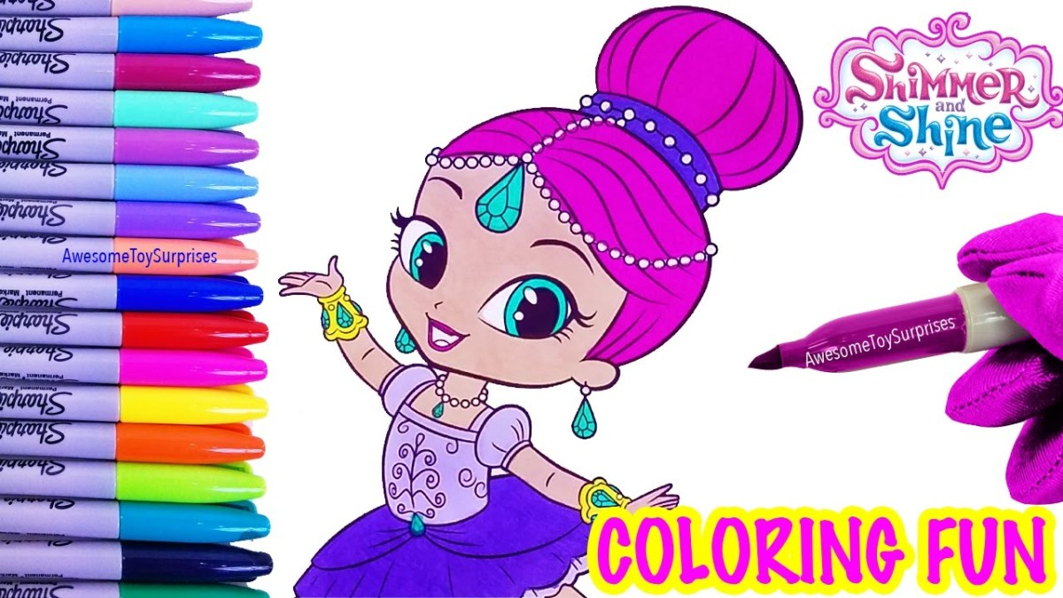 Shimmer And Shine Coloring Pages Shimmer In A Tutu Coloring Page Fun Nickelodeon Shimmer And Shine