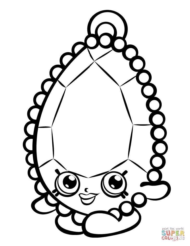 Shopkins Coloring Pages To Print Brenda Brooch Shopkin Coloring