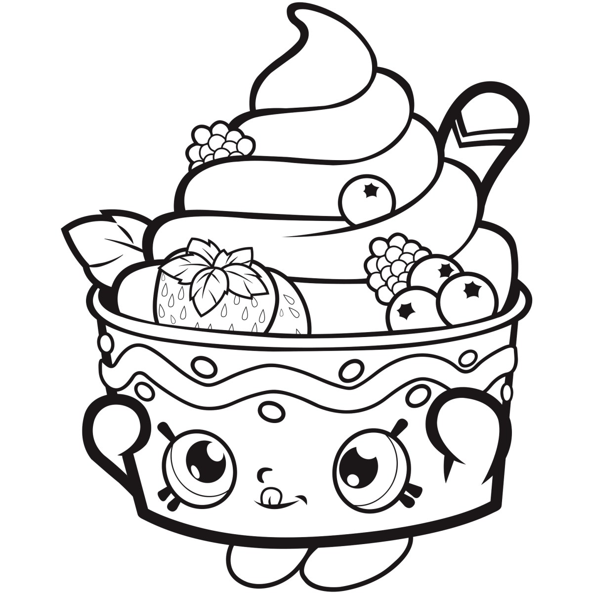Shopkins Coloring Pages To Print Free Shopkins Coloring