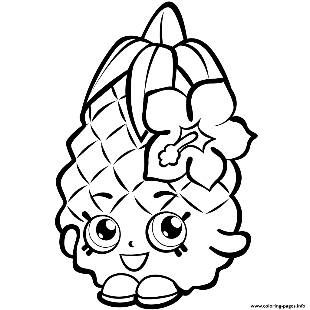 Shopkins Coloring Pages To Print Fruit Pineapple Shopkins Season 1 Coloring  Pages Printable - birijus.com