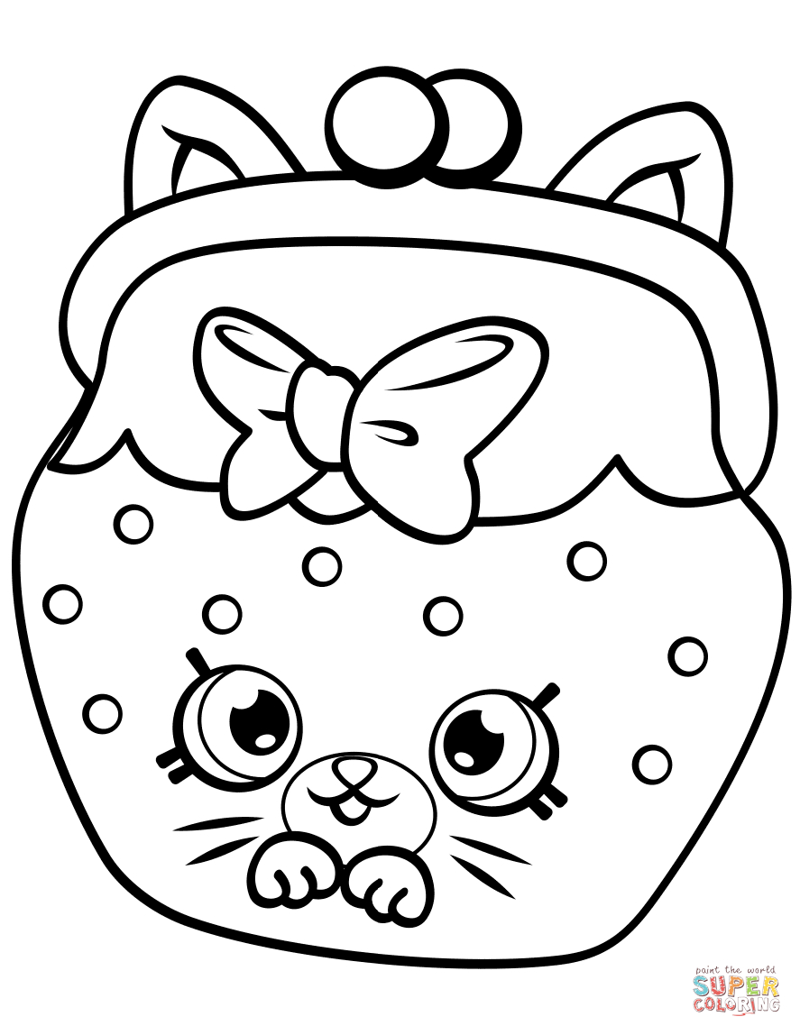 graphic relating to Shopkins Printable Color Pages identified as Shopkins Coloring Web pages Toward Print Petkins Cat Snout Shopkin