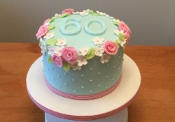 Simple Birthday Cakes 60th Birthday Cake Flowery And Simple Cakes Pinte