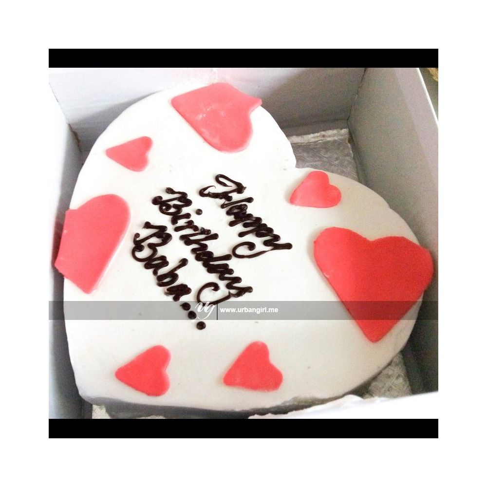 Outstanding Simple Birthday Cakes Buy Heart Shaped Simple Birthday Cake In Funny Birthday Cards Online Alyptdamsfinfo