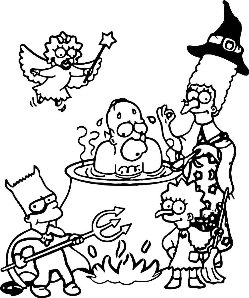 Simpsons Coloring Pages The Simpsons Coloring Pages Funnyhub Birijus Com