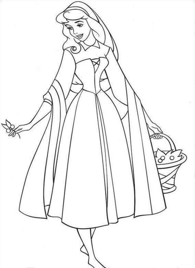 Sleeping Beauty Coloring Pages Free Printable Sleeping Beauty Coloring Pages For Kids