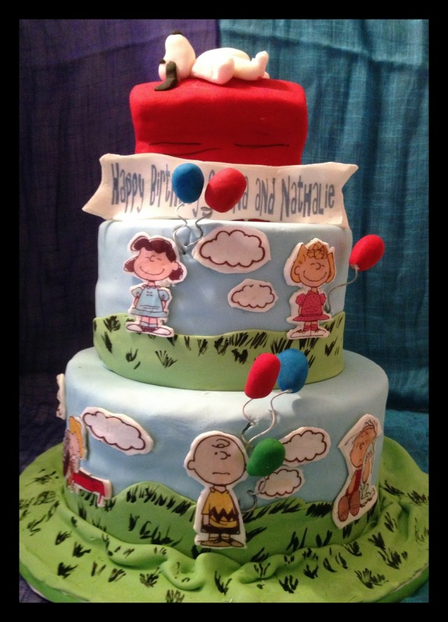 Snoopy Birthday Cake Peanuts Gang Birthday Cake Cakecentral