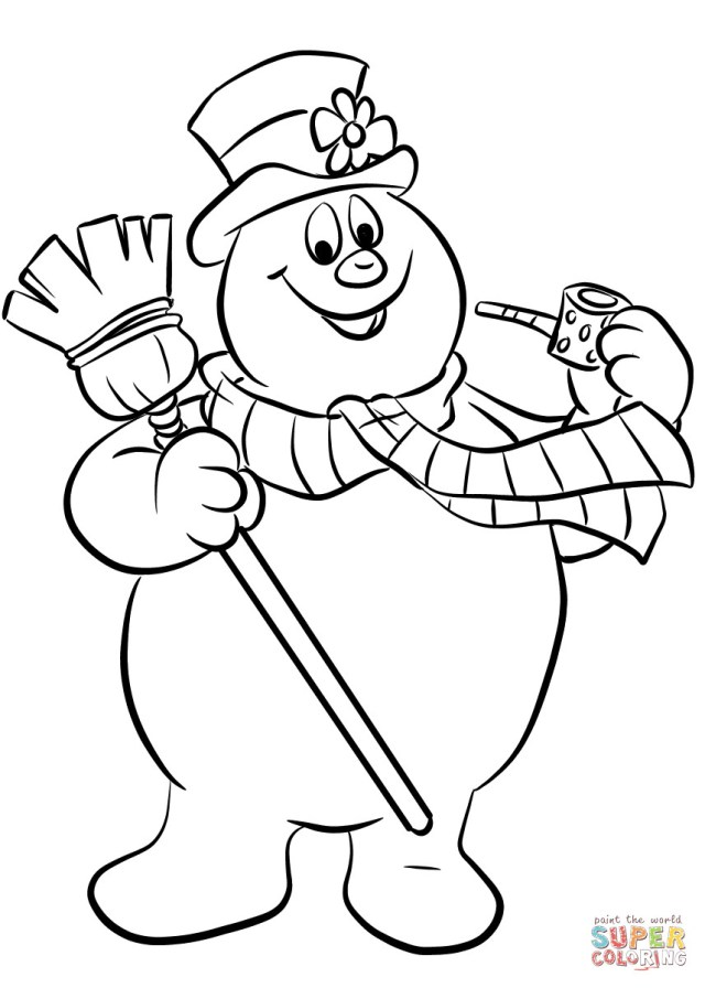 Snowman Coloring Pages Coloring Page Snowmang Frosty The Pages Page Fresh Awesome Of 51