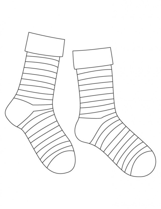Sock Coloring Page Socks Coloring Pages Best Of Sock Page Bookmontenegro Me For Images
