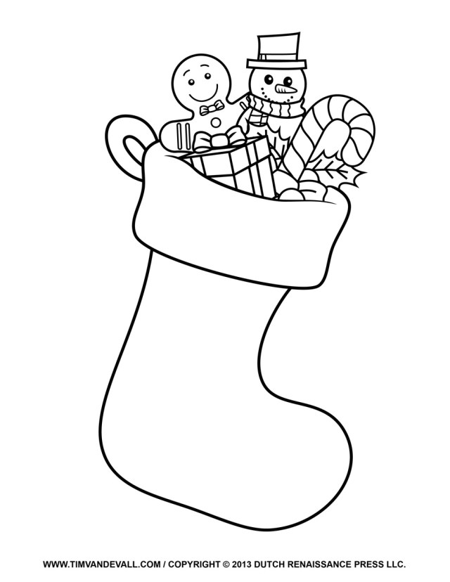 Socks Coloring Page Christmas Socks Coloring Pages At Getdrawings Free For