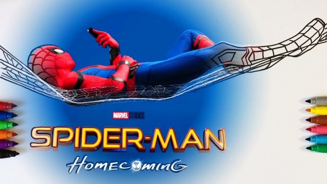 Spider Man Homecoming Coloring Pages Spider Man Homecoming Coloring Pages For Children With Color