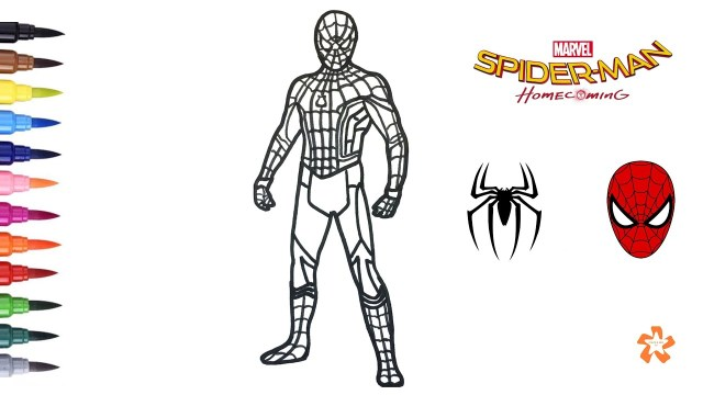 Spider Man Homecoming Coloring Pages Spider Man Homecoming Coloring Spider Man Coloring Pages For